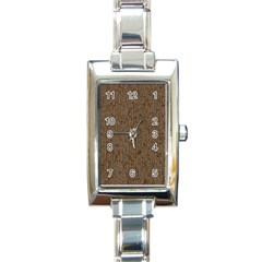 Sparkling Metal Chains 02a Rectangle Italian Charm Watch