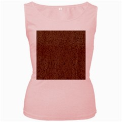 Sparkling Metal Chains 02a Women s Pink Tank Top