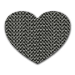 Sparkling Metal Chains 03a Heart Mousepads