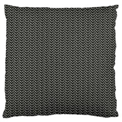Sparkling Metal Chains 03a Large Cushion Case (two Sides)