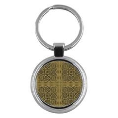 Seamless Pattern Design Texture Key Chains (round)