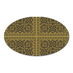 Seamless Pattern Design Texture Oval Magnet