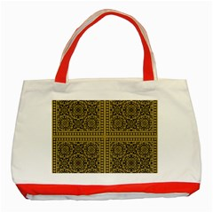 Seamless Pattern Design Texture Classic Tote Bag (red)