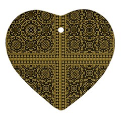 Seamless Pattern Design Texture Heart Ornament (two Sides)