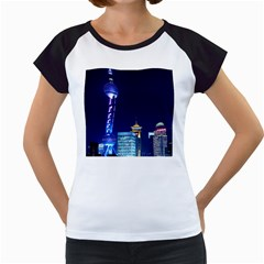 Shanghai Oriental Pearl Tv Tower Women s Cap Sleeve T