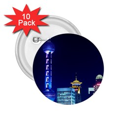 Shanghai Oriental Pearl Tv Tower 2 25  Buttons (10 Pack)