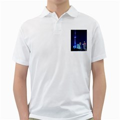 Shanghai Oriental Pearl Tv Tower Golf Shirts