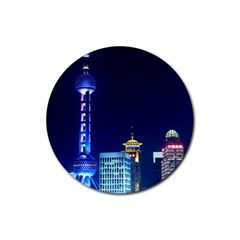 Shanghai Oriental Pearl Tv Tower Rubber Round Coaster (4 Pack)