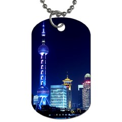 Shanghai Oriental Pearl Tv Tower Dog Tag (two Sides)