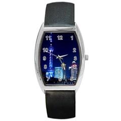 Shanghai Oriental Pearl Tv Tower Barrel Style Metal Watch