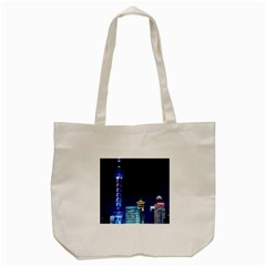 Shanghai Oriental Pearl Tv Tower Tote Bag (cream)