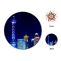Shanghai Oriental Pearl Tv Tower Playing Cards (round)