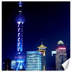Shanghai Oriental Pearl Tv Tower Canvas 12  X 12