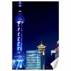 Shanghai Oriental Pearl Tv Tower Canvas 12  X 18