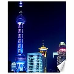 Shanghai Oriental Pearl Tv Tower Canvas 11  X 14
