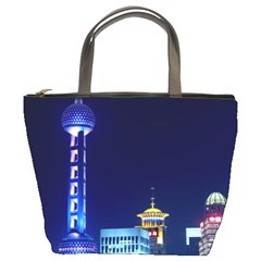Shanghai Oriental Pearl Tv Tower Bucket Bags