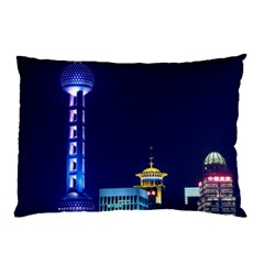 Shanghai Oriental Pearl Tv Tower Pillow Case (two Sides)