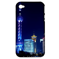 Shanghai Oriental Pearl Tv Tower Apple Iphone 4/4s Hardshell Case (pc+silicone)