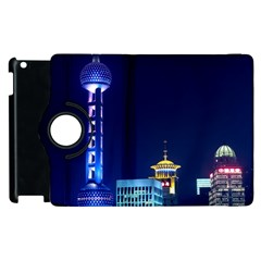 Shanghai Oriental Pearl Tv Tower Apple Ipad 3/4 Flip 360 Case