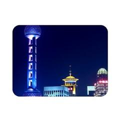 Shanghai Oriental Pearl Tv Tower Double Sided Flano Blanket (mini)