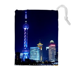Shanghai Oriental Pearl Tv Tower Drawstring Pouches (extra Large)