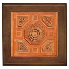 Symbolism Paneling Oriental Ornament Pattern Framed Tiles