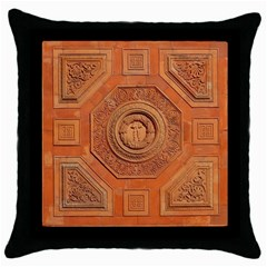 Symbolism Paneling Oriental Ornament Pattern Throw Pillow Case (black)
