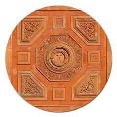 Symbolism Paneling Oriental Ornament Pattern Magnet 5  (round)