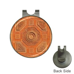 Symbolism Paneling Oriental Ornament Pattern Hat Clips With Golf Markers