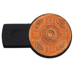 Symbolism Paneling Oriental Ornament Pattern Usb Flash Drive Round (4 Gb)