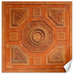 Symbolism Paneling Oriental Ornament Pattern Canvas 16  X 16