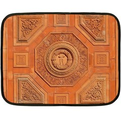 Symbolism Paneling Oriental Ornament Pattern Fleece Blanket (mini)
