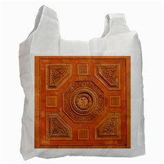Symbolism Paneling Oriental Ornament Pattern Recycle Bag (two Side)