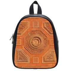 Symbolism Paneling Oriental Ornament Pattern School Bag (small)