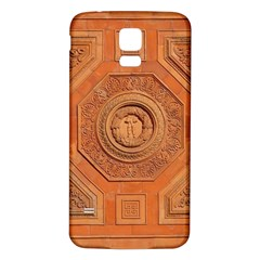 Symbolism Paneling Oriental Ornament Pattern Samsung Galaxy S5 Back Case (white)