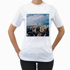 Shanghai The Window Sunny Days City Women s T Shirt (white) (two Sided)