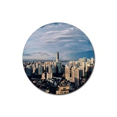 Shanghai The Window Sunny Days City Rubber Round Coaster (4 Pack)