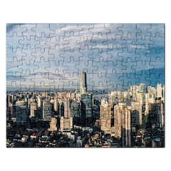 Shanghai The Window Sunny Days City Rectangular Jigsaw Puzzl
