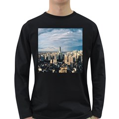 Shanghai The Window Sunny Days City Long Sleeve Dark T Shirts