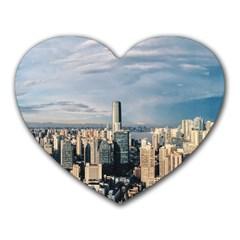 Shanghai The Window Sunny Days City Heart Mousepads