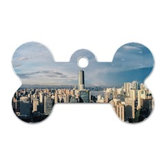 Shanghai The Window Sunny Days City Dog Tag Bone (two Sides)