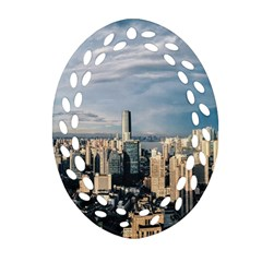 Shanghai The Window Sunny Days City Oval Filigree Ornament (two Sides)