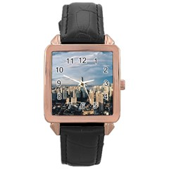 Shanghai The Window Sunny Days City Rose Gold Leather Watch