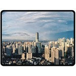 Shanghai The Window Sunny Days City Double Sided Fleece Blanket (Large)  80 x60 Blanket Back