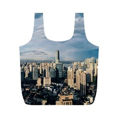 Shanghai The Window Sunny Days City Full Print Recycle Bags (m)
