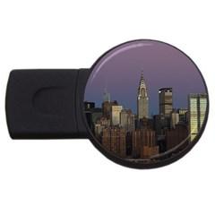 Skyline City Manhattan New York Usb Flash Drive Round (2 Gb)