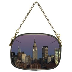 Skyline City Manhattan New York Chain Purses (two Sides)