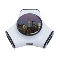 Skyline City Manhattan New York 3 Port Usb Hub