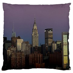 Skyline City Manhattan New York Large Cushion Case (two Sides)