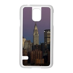 Skyline City Manhattan New York Samsung Galaxy S5 Case (white)